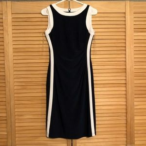 Ralph Lauren fitted knee high tank dress navy blue